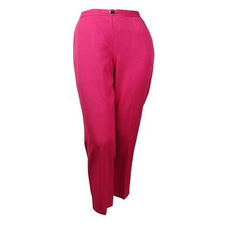 Alfred Dunner Women's Avenue Louise Hardware Short Pants - Raspberry - 14