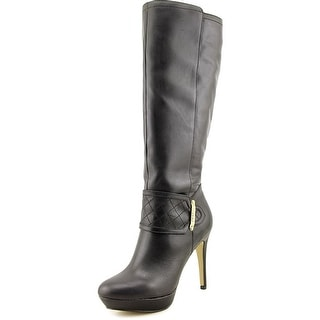 Kensie Nenessa Round Toe Leather Knee High Boot