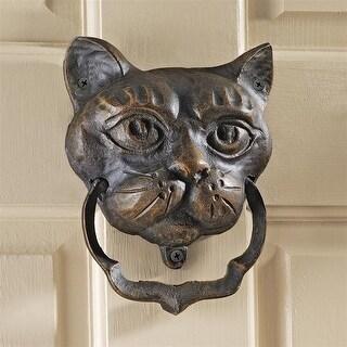 Design Toscano Halloween Black Cat Authentic Foundry Iron Door Knocker