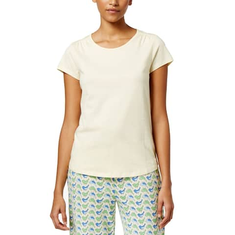 Charter Club Women's Scoop-Neck Cotton Pajama T-Shirt, (Yellow XS)