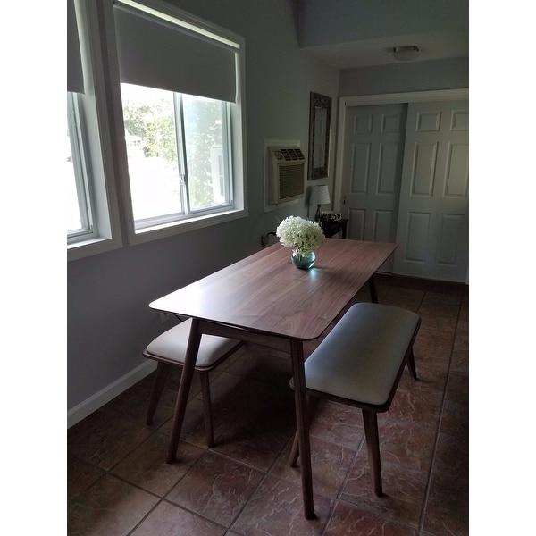 penelope danish modern upholstered dining bench inspire q modern free shipping today