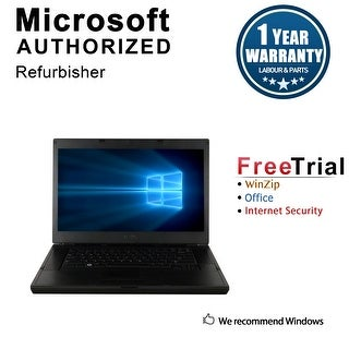 "Refurbished Dell Latitude E6510 15.6"" Laptop Intel Core i5 520M 2.4G 4G DDR3 250G DVD Win 10 Pro 1 Year Warranty - Silver"