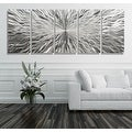 Statements2000 Extra Large Silver 5 Panel Modern Metal Wall Art Sculpture by Jon Allen - Vortex 5P XL - Thumbnail 3