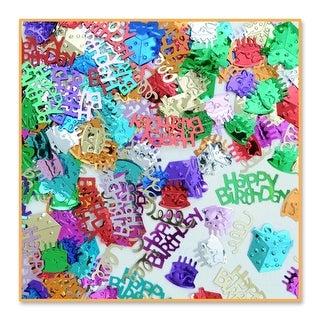 Pack of 6 Multicolored Birthday Bash Confetti Bags 0.5 Oz - Multi