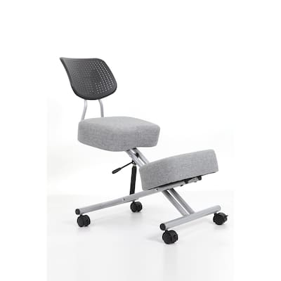 Furniture of America Kade Height Adjustable Kneeling Chair with Back Support