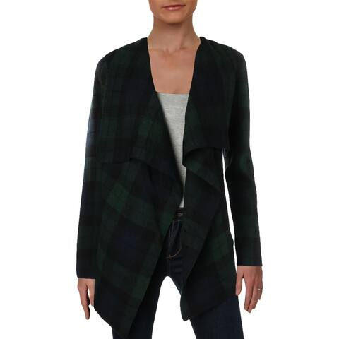 Lauren Ralph Lauren Womens Petites Erindaria Cardigan Sweater Wool Drapey - PS