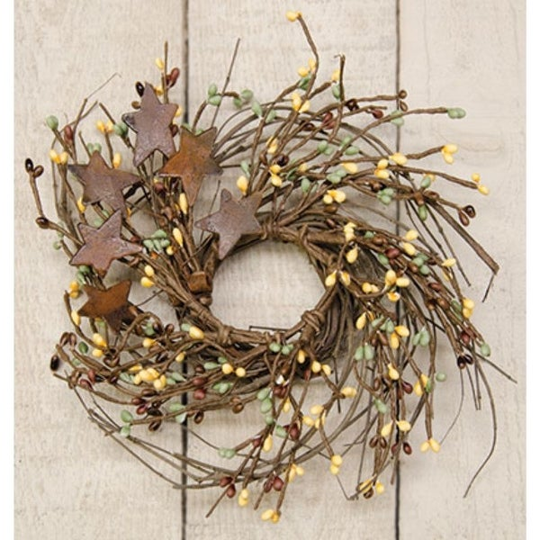 "10"" Coffee Bean Pip & Twig Wreath"