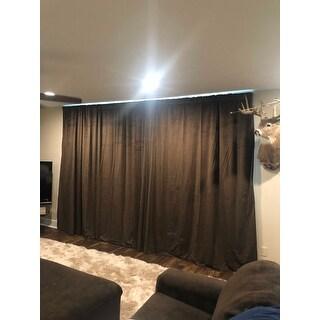 Exclusive Fabrics Java Velvet Blackout Extra Wide Curtain Panel