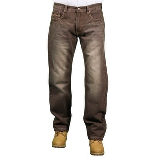 MO7 Men's Brown Fashion Jeans