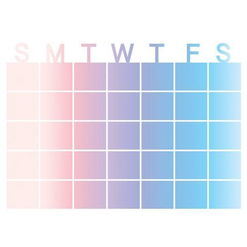 "Brewster WPE2798 WallPops Serenity 17-1/2"" x 24"" Dry Erase Vinyl Monthly Wall Calendar"