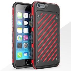 Insten Dual Layer Hybrid Rubberized Hard PC/ Silicone Case Cover for Apple iPhone 6 Plus/ 6s Plus
