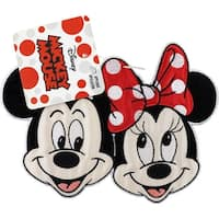 Disney Mickey Mouse Iron-On Applique-Mickey & Minnie