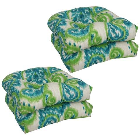 Blazing Needles 19-inch U-Shaped Dining Chair Cushions (Set of 4)