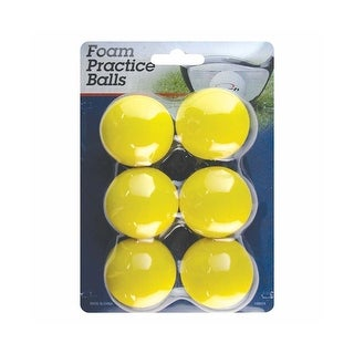 Intech Golf Foam Practice Balls, 6 Pack