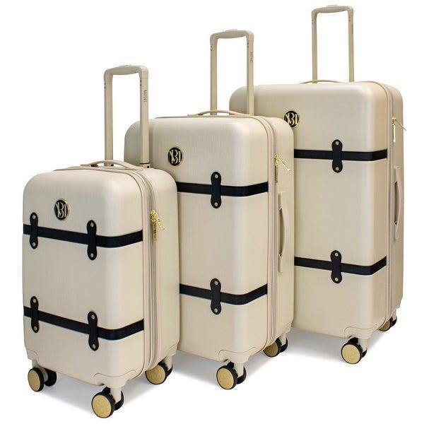 BADGLEY MISCHKA Grace 3 Piece Expandable Retro Luggage Set. Opens flyout.