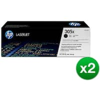 HP 305X High Yield Black Original LaserJet Toner Cartridge (CE410X)(2-Pack)