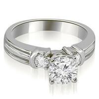 1.00 cttw. 14K White Gold Prong Set Round Cut Diamond Engagement Ring