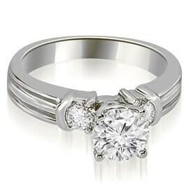 1.25 cttw. 14K White Gold Prong Set Round Cut Diamond Engagement Ring