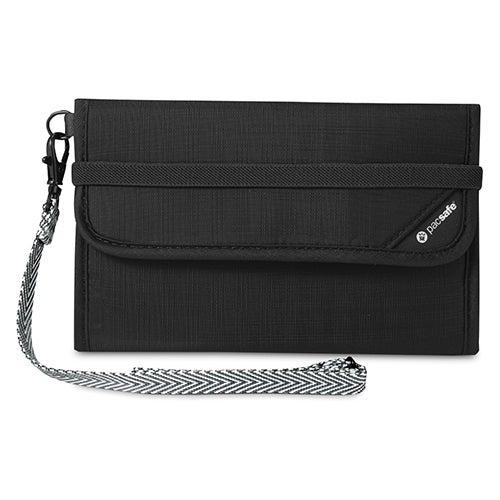 Pacsafe RFIDsafe V250-Black RFID Blocking Travel Wallet