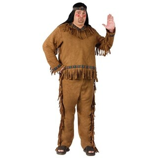 Fun World Native American Plus Size Costume - Brown - 48-52