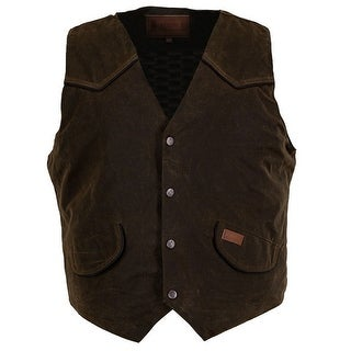 Link to Outback Trading Western Vest Mens Cliffdweller Pockets Bronze Similar Items in Women's Outerwear