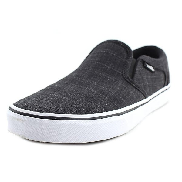 083c3e9f9b1ab8 Shop Vans Asher Men Round Toe Canvas Black Loafer - Free Shipping On ...