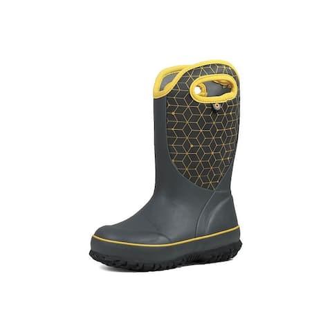 Bogs Outdoor Boots Boys Slushie Web Geo Pull On Waterproof