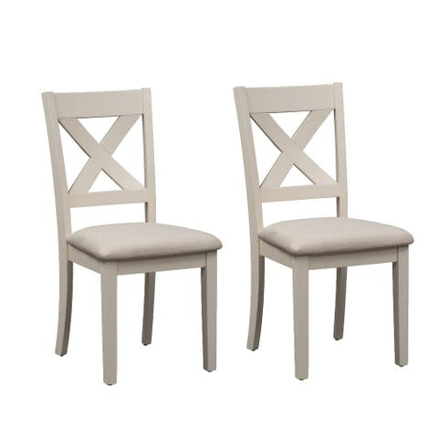 The Gray Barn Hillside Cream X-back Dining Chair (Set of 2)