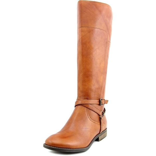 Marc Fisher Alexis Women W Round Toe Leather Brown Knee High Boot
