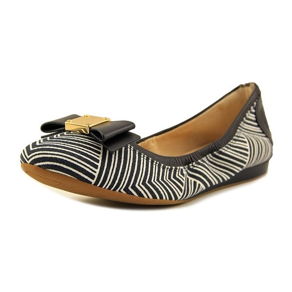 Cole Haan Tali Bow Ballet   Round Toe Leather  Ballet Flats