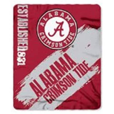 Alabama Crimson Tide Blanket 50x60 Fleece College Painted Design