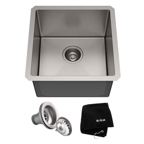 KRAUS Standart PRO Stainless Steel 17 inch Undermount Kitchen Sink