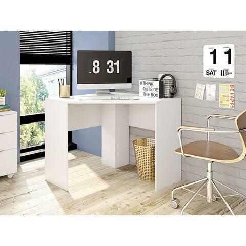Mid Century Modern Cornelia Corner Wood Desk