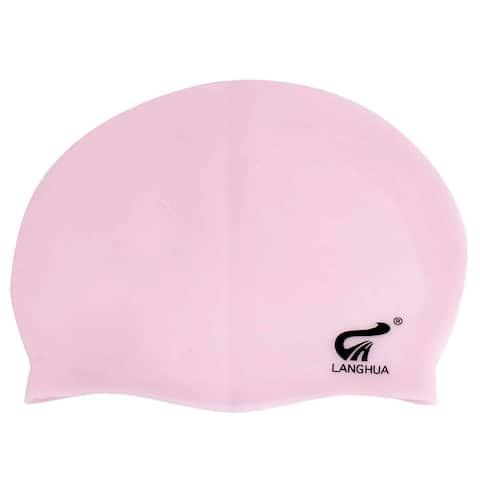 Unique Bargains Premium Silicone Elastic Solid Anti-slip Swimming Cap for Women w Long Hair