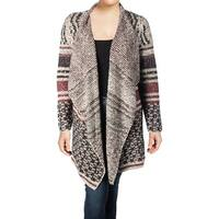 Lucky Brand Womens Plus Cardigan Sweater Wool Striped