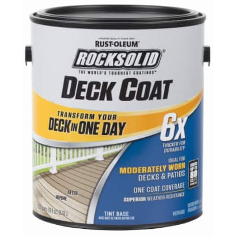 Rust-Oleum 300113 RockSolid 6x Deck Coat, Adobe, 1 Gallon