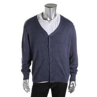 Tricots St. Raphael Mens Woven Textured Cardigan Sweater - XL