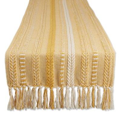 DII Black Braided Stripe Table Runner