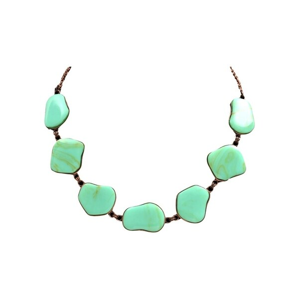 "LoulaBelle Western Jewelry Women Necklace Stones 16"" Turquoise LN19010 - turquoise copper"