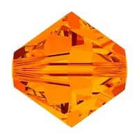 Swarovski Elements Crystal, 5328 Bicone Beads 3mm, 25 Pieces, Tangerine