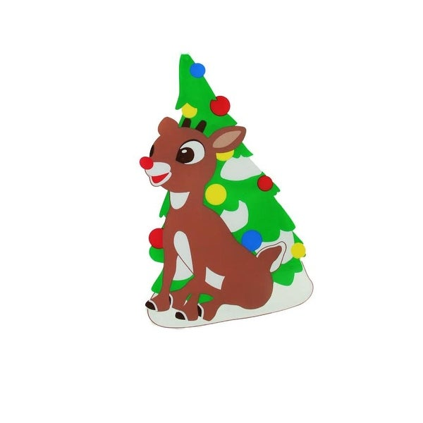 """8"""" Rudolph the Red-Nosed Reindeer Jelz Christmas Window Cling"""