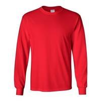 Ultra Cotton Long Sleeve T-Shirt - Red - 4XL
