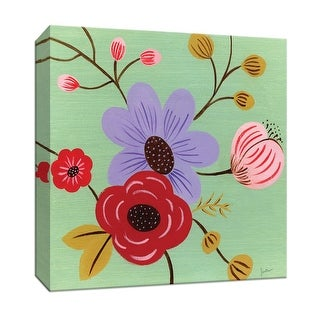 """PTM Images 9-147487  PTM Canvas Collection 12"""" x 12"""" - """"Vintage Flowers I"""" Giclee Flowers Art Print on Canvas"""