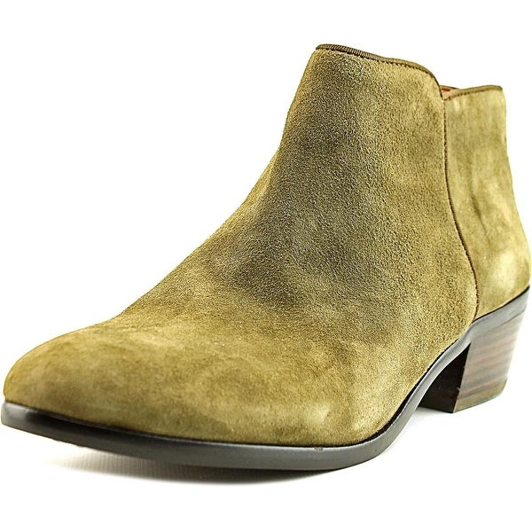b27bc843d30c4 Shop Sam Edelman Petty Women Round Toe Suede Green Bootie - Free ...