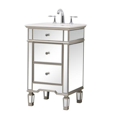 Mirrored Single Bathroom Vanity Sink