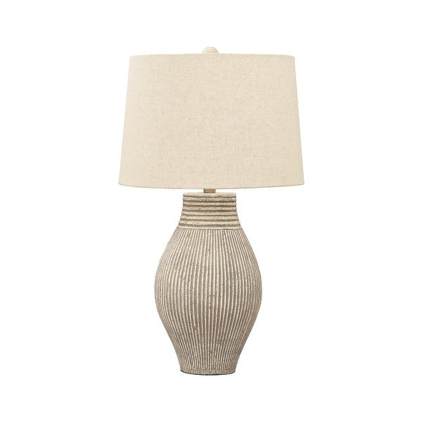 "Aleela Contemporary White/Gold Textured Metal Lamp - 21.5"" H. Opens flyout."