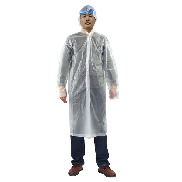 d40853d34e430 Shop Clear One Size Adult Disposable Thicken PVC Hooded Raincoat Poncho for  Travel - On Sale - Free Shipping On Orders Over $45 - Overstock - 17600369