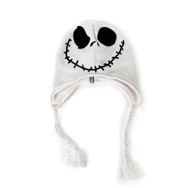 aa0e54be5 Nightmare Before Christmas Jack Skellington Peruvian Felt White Knit Hat