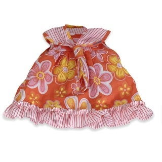 Baby Doll Clothes Orange Floral