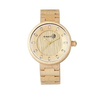 Earth Wood Branch Unisex Quartz Watch, Wood Band, Luminous Hands